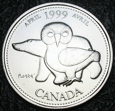 RCM - 1999 - 25-cents - April - Proof Like - Uncirculated