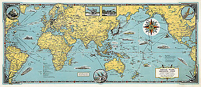 Total War Battle Map 1942 High Quality Art Print 110cm x 47.8cm