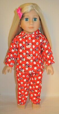 "American Girl Doll Our Generation Journey 18"" Dolls Clothes Minnie Mouse Pj's"