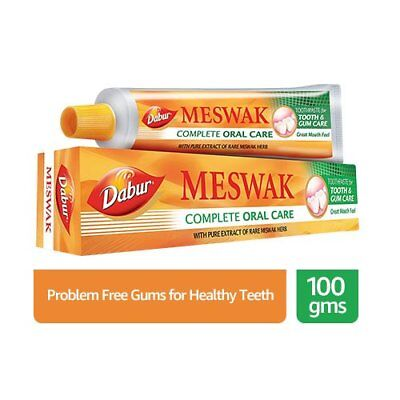 4x Dabur Meswak Toothpaste Herbal-decay plaque tartar gum oral tooth care 100gm