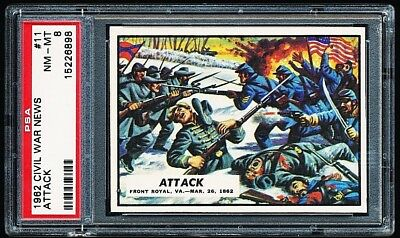 1962 Civil War News # 11 ~ Attack ~ Graded Psa 8 Nm-Mint