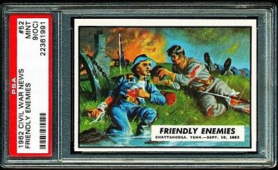 1962 CIVIL WAR NEWS # 52 ~ FRIENDLY ENEMIES ~ GRADED PSA 9 MINT { oc }