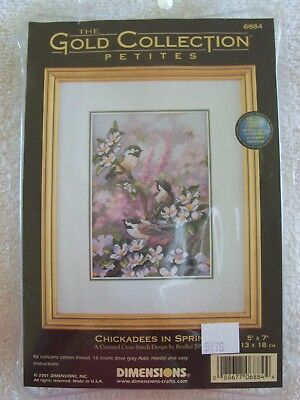 DIMENSIONS  GOLD COLLECTION PETITES CHICKADEES IN SPRING KIT  UNWORKED  No. 6884
