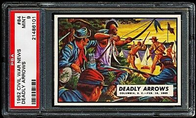 1962 Civil War News # 84 ~ Deadly Arrows ~ Graded Psa 9 Mint