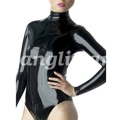 Latex Catsuit Women Briefs all inclusive Long Slevees suit 0.4mm Size S-XXL