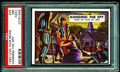 1962 CIVIL WAR NEWS # 25 ~ HANGING THE SPY ~ GRADED PSA 7 NM oc