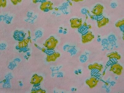 "2 yards ADORABLE Vintage 1940's 36"" wide UNISEX cotton Flannel Baby Fabric"