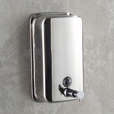 Bathroom Wall-Mount Stainless-Steel Shower Shampoo Lotion Liquid Soap Dispenser