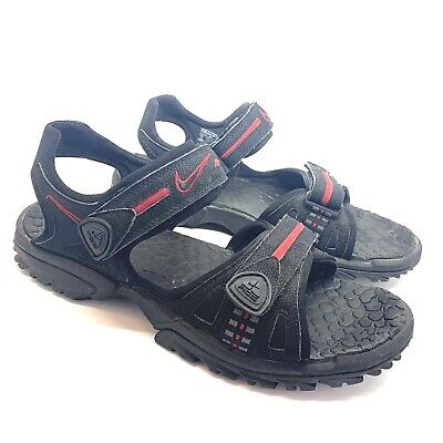 Nike ACG Adjustable Hiking Sport Sandals - Velcro Black Red Rubber Size 13  Mens ab05bca73