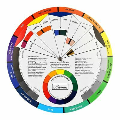 Large Colour Wheel Paint Mixing Guide Art Painting Artist Chart Wheel UK AA