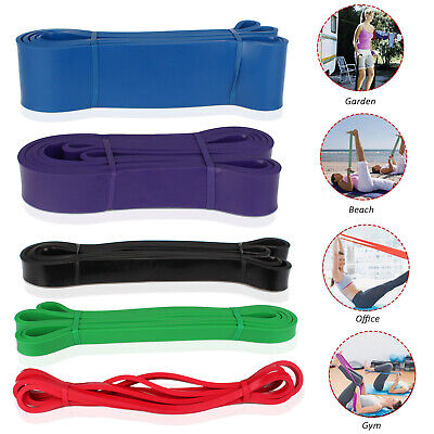 Pull Up Resistance Bands Rubber Elastic Workout Gym Fitness Yoga Band Loop, Lot