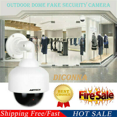 Dummy Camera Outdoor Dome Fake Security Camera With Blinking LED Light