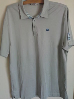 Travis Mathew Golf Polo Shirt Gray Royal Links Club Las Vegas