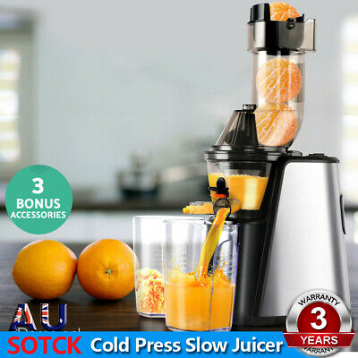 Cold Press Slow Juicer Whole Fruit Stainless Steel Processor Mixer Devanti