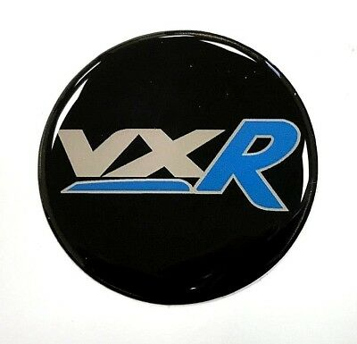 Vauxhall VXR Blue Sticker 70mm Diameter HIGH GLOSS DOMED GEL FINISH - Corsa