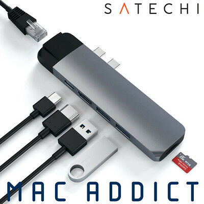 Satechi Type-C (USB-C) Pro Hub w/ Gigabit Ethernet & 4K HDMI