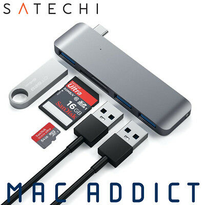 Satechi Type-C (USB-C) Combo Hub w/ 3 x USB & SD Card Readers