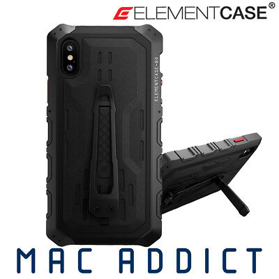 Element Case Black Ops Elite Premium Rugged Case w Stand & Holster iPhone XS / X