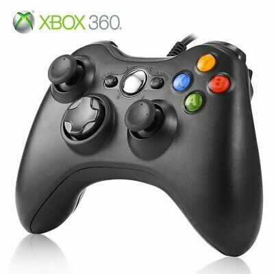 Black Xbox 360 Controller USB Wired Game Pad Gamepad For Microsoft Xbox 360 PC
