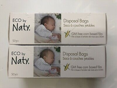 ECO By Naty Disposable Bags 50pcs (PACK OF 2!)