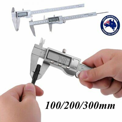 150/200/300mm Electronic Digital Vernier Caliper Stainless LCD Gauge w/ Case L7