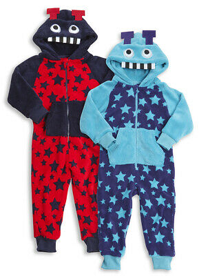 ONEZEE Childrens Infant Kids Boys Novelty Jumpsuit Printed SuperSoft Hooded 2-6