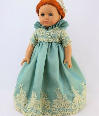 """Doll Clothes AG 18"""" Dress Royal English Court Mint Fits 18"""" American Girl Dolls"""