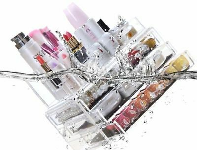 Clear Acrylic Makeup Holder Cosmetic Organizer 4 Drawers Storage Jewelry Case OZ