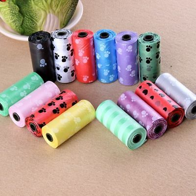 5 Rolls Pet Dog Waste Clean Poop Bags Pick Up Pet Bags Supplies Pooper
