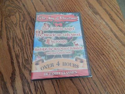 """4 Christmas Films """"The Littlest Angel"""", The Miracle on 34th Street+ More;DVD/New"""