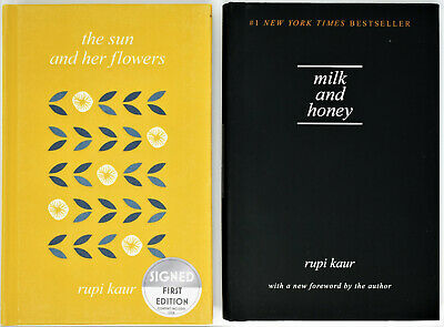 The Sun and Her Flowers AUTOGRAPHED / SIGNED / COA + Milk & Honey Rupi Kaur