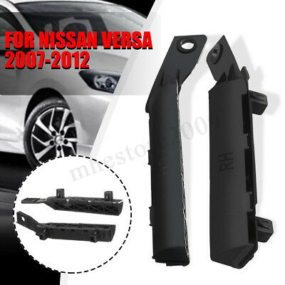 PAIR BUMPER BRACKET Front Left and Right Black For Nissan