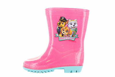 f928e17b694 Paw Patrol Pups Rule Girls Wellington Wellies Boots Pink UK Child Sizes 5-10