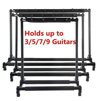 US Multi Guitar Stand 3 5 7 9 Holder Folding Organizer Rack Stage Bass Acoustic