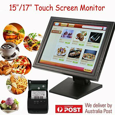 """15""""/17"""" LED Touch Screen USB/VGA Monitor Point of Sale System lLED Display POS"""