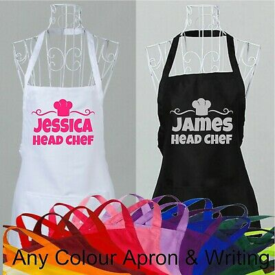 Personalised Name Apron Cook Novelty Head Chef Any Name Headchef Custom Printed