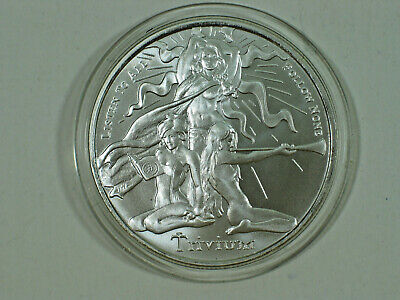 1 Oz Silver Shield Mini Mintage 2015 Trivium Girls Gem Uncirculated 999 Silver