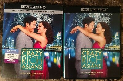 Crazy Rich Asians (Blu-ray + 4K Ultra HD + Digital, 2018 2-Disc Set w Slipcover)