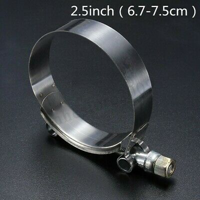 2.5 inch Stainless Steel T-Bolt Clamps Turbo Intake Silicone Hose Clamp 75mm !