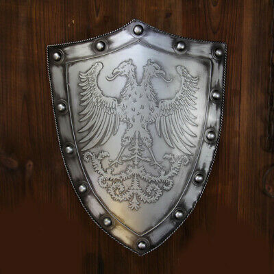 D22 Europe Retro Medieval Shield Antique Knight Armour Wall Home Decor Full Size