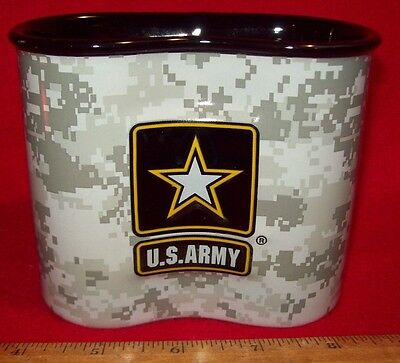 New Us Army Acu Camo Ceramic Coffee Mug In The Style Of A 1 Qt Canteen Cup