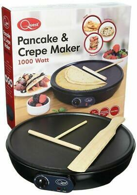 Electric Crepe Maker Pancake Plate Omelettes Blinis Chapati Non Stick Frying Pan