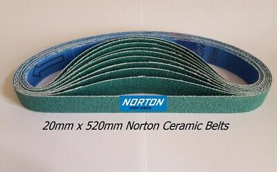 20 X 520 Norton Zirconia Sanding Belts For 20Mm Air Belt Sander