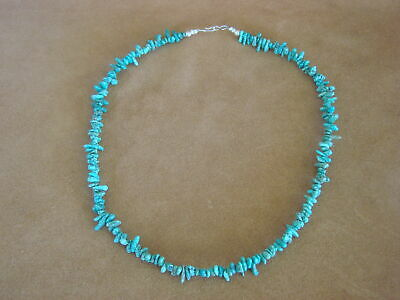 Native American Indian Jewelry Hand Strung Turquoise Nugget Necklace! Louise Joe