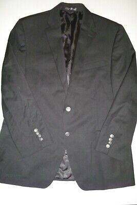 michael kors mens black two button wool sports coat blazer suit jacket - 43R