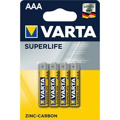 100 Batterie Varta MiniStilo Batteria AAA Pile Mini Stilo Superlife 1,5 Volt