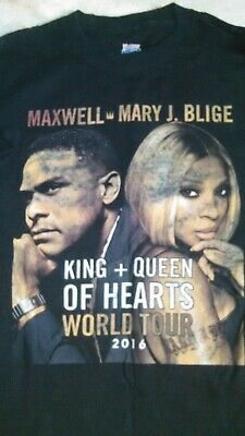 Maxwell Mary J Blige King And Queen Of Hearts Tour Shirt Mens Large 2016