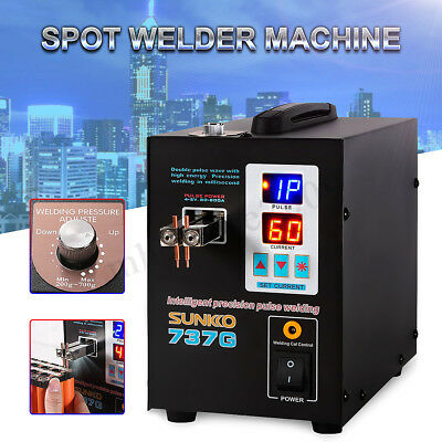 Hand Held SUNKKO 737G Battery Spot Welder Welding with Pulse & Current Display