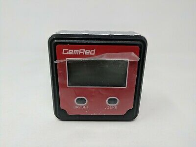 GemRed 82412 Backlight Digital Level Box Protractor Angle Finder - Used