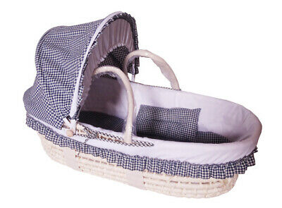 D92 Baby Moses Basket Bassinet Waffle Bedding WIth Net 75*35CM